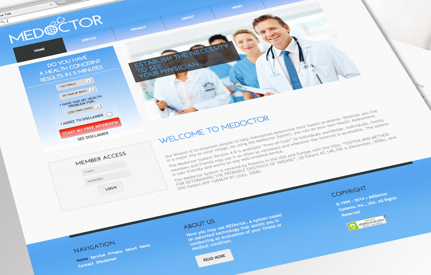OLD WEBSITE OF MEDOCTOR